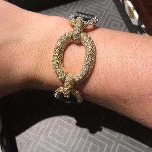 Jewelry - Black leather band Natasha bracelet